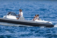 Nina Dobrev and Asustin Stowell enjoy the ocean off the cost the French Riviera (July 26) GQq969x3