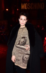 Noomi Rapace - London Collections Men Autumn/Winter 16 Moschino Front Row in London - 01/10/16