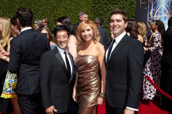 Kari Byron - Gold Dress on Red Carpet  at 66th Emmys - 16/8/14 - 6HQ