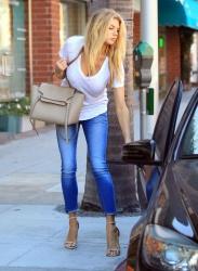 Charlotte McKinney - Shopping in Beverly Hills 8/4/15