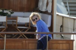 Anja Rubik seen aboard a yacht in cannes harbour May 22-2015 x23