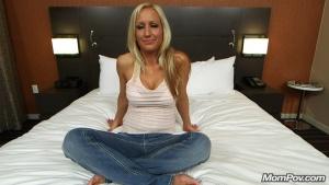 And stripper blonde Milf