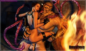 3d hentai resident evil monstruo destruye a valentine 2