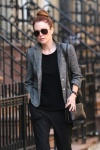 Julianne Moore Walking in the West Village after having lunch at Cafe Cluny December 22-2015 x40