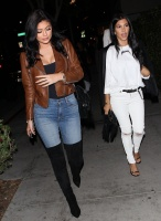 Kendall, Kylie Jenner & Kourtney Kardashian - At Maestro's Steakhouse in Beverly Hills 7/29/15