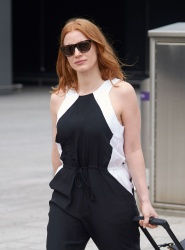 Jessica Chastain - At Heathrow Airport 7/15/15