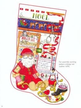 Рождественские вышитые сапожки от Donna Kooler.  Схемы, цветовая гамма.