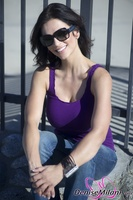 Дениз Милани, фото 4493. Denise Milani Purple in January, foto 4493