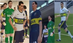 Download PES 2014 Kit Boca Juniors 14-15 por elFenomeno