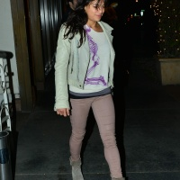 Michelle Rodriguez Out for dinner at Madeo Restaurant in Los Angeles - February 1-2015 X11