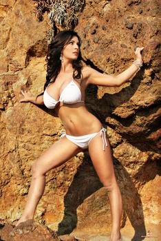Дениз Милани, фото 4463. Denise Milani White Bikini (From Her Old Website), foto 4463