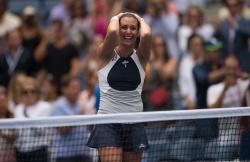 Flavia Pennetta - 2015 US Open Day Twelve: Semi-finals vs. Simona Halep @ BJK National Tennis Center in Flushing Meadows - 09/11/15