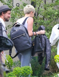 Miley Cyrus - out in Hollywood 4/13/13