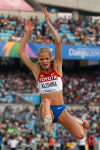 Дарья Клишина, фото 36. Darya Klishina 13th IAAF World Athletics Championship, Daegu, South Korea - 28.08.2011, foto 36