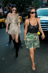 Kim Kardashian and Kendall Jenner Out in New York City - 8/1/17