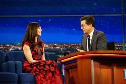 Maggie Siff - The Late Show with Stephen Colbert: February 16th 2017