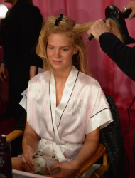Erin Heatherton - backstage Victoria's Secret fashion show in NYC 11/13/13
