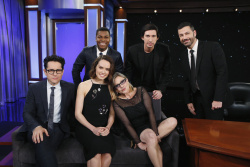 Daisy Ridley - Jimmy Kimmel Live November 23rd 2015: The Cast of Star Wars: The Force Awakens - 11/23/15