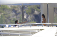 Nina Dobrev and Asustin Stowell enjoy the ocean off the cost the French Riviera (July 26) UJ4yRoal