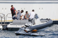 Nina Dobrev and Asustin Stowell enjoy the ocean off the cost the French Riviera (July 26) SgCxj3Cd