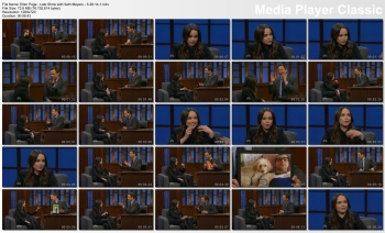 Ellen Page - Late Show with Seth Meyers - 5-28-14