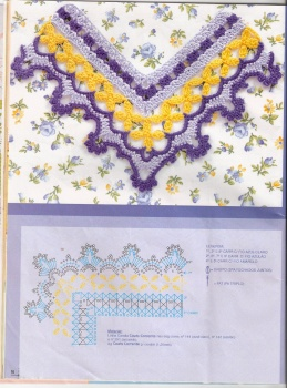 Правила чтения крючковых схем.  При вязании прямого полотна поворотными рядами схемы читаются снизу вверх.