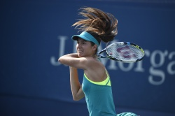 Oceane Dodin - 2015 US Open Day Three: 2nd Round vs. Mariana Duque-Marino @ BJK National Tennis Center in Flushing Meadows - 09/02/15
