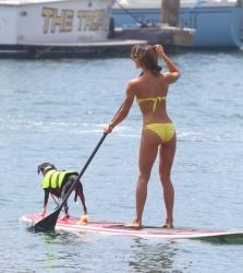 Leilani Dowding - paddleboarding in Marina Del Rey 7/14/13