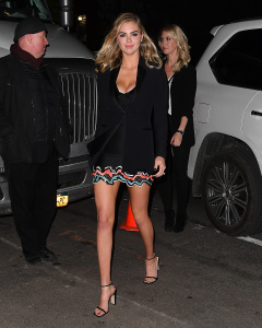 Kate Upton - Arriving At The Sports Illustrated Swimsuit Issue Launch Event in NYC - February 16th 2017