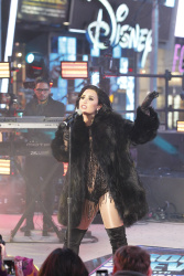 Demi Lovato - Dick Clark's New Year's Rockin' Eve 2016 @ Times Square in NYC - 12/31/15