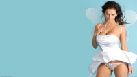 busty Denise Milani widescreen wallpaper