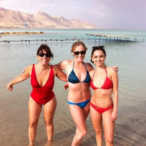 Rachael Leigh Cook and Andrea Bowen Wearing Bikinis at The Dead Sea - January 2012