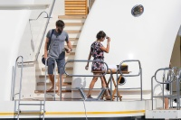 Nina Dobrev and Asustin Stowell enjoy the ocean off the cost the French Riviera (July 26) E0CrGOk1