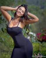 Дениз Милани, фото 5568. Denise Milani Black Dress 2 :, foto 5568