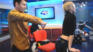 Miley Cyrus Getting Her *** Played Like Bongos on Capital FM Radio in London - November 12, 2013
