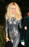 Claudia Schiffer arrives at Jonathan Ross's Halloween Party in London October 31-2015 x22