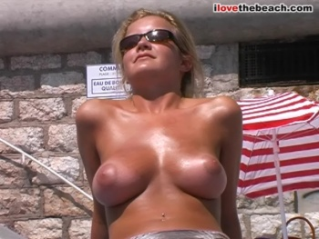 South of france topless beach