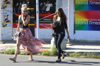 Nina Dobrev with Hilary at Alfred Coffee & Kitchen in West Hollywood (July 29) U4eG0LM7