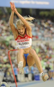 Дарья Клишина, фото 30. Darya Klishina 13th IAAF World Athletics Championship, Daegu, South Korea - 28.08.2011, foto 30