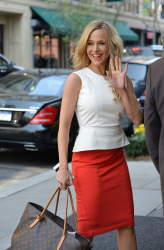 Julie Benz - at her hotel in NYC 4/10/13
