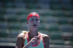 Kristina Mladenovic - 2016 Australian Open Practice Session @ Melbourne Park in Melbourne - 01/17/16