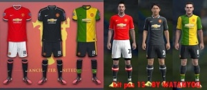 Download PES 2013 Man. United Leaked Kits 14-15 by Watanyou
