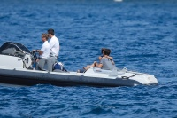 Nina Dobrev and Asustin Stowell enjoy the ocean off the cost the French Riviera (July 26) BnLDxBtA