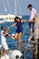 Nina Dobrev with her boyfriend Austin Stowell in Saint-Tropez (July 24) ZlE361Qx
