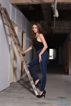 set018 Strips From Her Jeans And Black Bodysuit 08.09.15