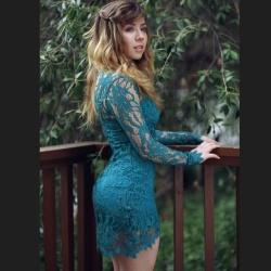 Jennette McCurdy Looking Nice in a Dress - 5/11/15