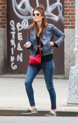 Lake Bell - out in NYC 4/20/13