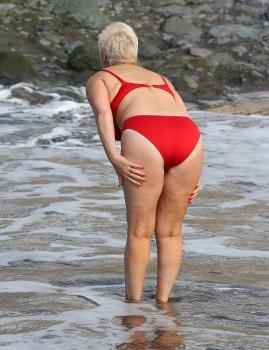 Denise welch bikini