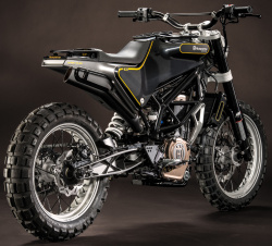 Husqvarna concept bikes - 401 VITPILEN and 401 SVARTPILEN - at the EICMA 2014