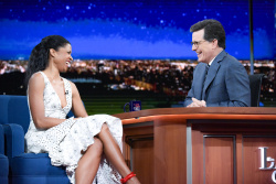 Renee Elise Goldsberry - The Late Show with Stephen Colbert: April 21st 2017